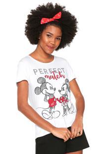 Camiseta Cativa Disney Estampada Branca