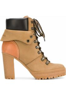 See By Chloé Ankle Boot 'Elieen' De Couro - Marrom