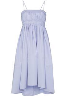 Chloé Vestido Midi Franzido - Azul