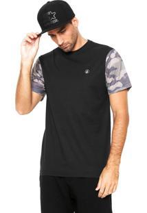 Camiseta Volcom Stone Camo Preta