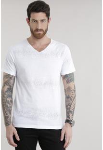 Camiseta Com Estampa De Números Branca
