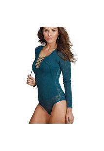 Body Amarração Demillus 98017 Verde Esmeralda
