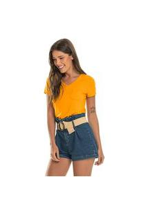 Blusa Feminina Básica Rovitex Amarelo