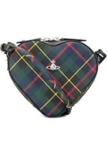 Vivienne Westwood Check Heart Cross Body Bag - Azul