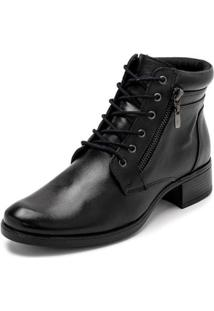 Bota Sandalo Clave De Fa Sitar Black Feminina - Feminino-Preto