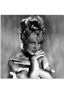Quadro Brigitte Bardot Uniart Preto & Branco 30X30Cm