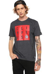 Camiseta New Era Los Angeles Clippers Cinza