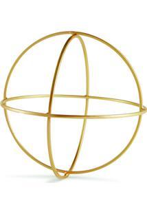 Forma Geomã©Trica Decorativa- Dourada- 19,5Xã˜24Cmmart