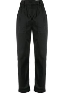 Nili Lotan Turn Up Cuff Trousers - Preto