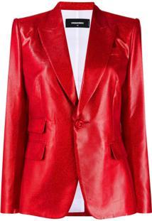 Dsquared2 Blazer Com Lapelas - Vermelho