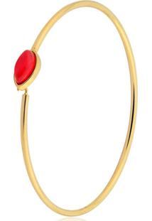 Pulseira Toque De Joia Bracelete Navete Jade Dourado