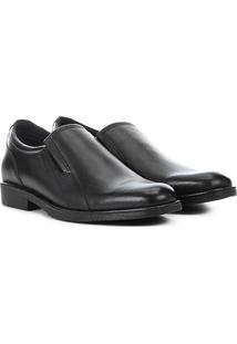 Sapato Social Couro West Coast Los Angeles Masculino - Masculino-Preto