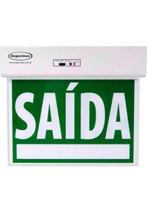 Luminária De Emergência Segurimax Saída, Verde, 24288 - Bivolt