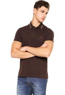 Camisa Polo Aramis Frisos Marrom
