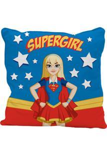 Capa De Almofada Supergirl 45X45Cm - Urban - Azul / Vermelho