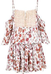 Pop Up Store Vestido Recortes Renda - Branco