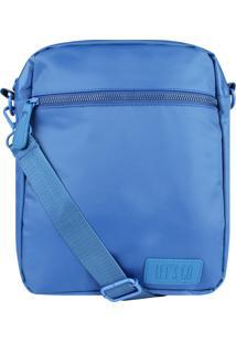 Bolsa Tiracolo Nylon Matching Color Let'S Go (Azul Claro, Único)