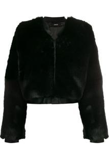 J Brand 'Faux Fur Jacket' - Preto