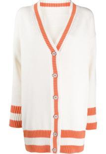 Heron Preston Oversized Knitted Cardigan - Branco