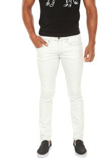 Calça Jeans Calvin Klein Jeans Super Skinny Delavê Branca