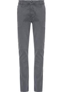 Calça Masculina Color Chino Skinny - Cinza