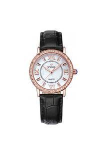 Relógio Feminino Wwoor 8807 - Preto