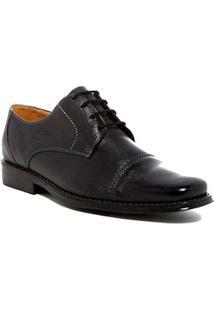 Sapato Casual Couro Sandro & Co. Derby Masculino - Masculino-Preto