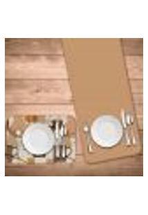 Jogo Americano Com Caminho De Mesa Wevans Café Master Kit Com 4 Pçs + 1 Trilho