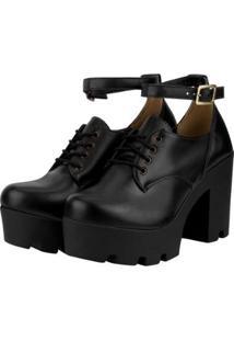 Oxford Barth Shoes Mali Feminino - Feminino-Preto