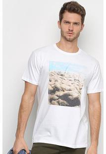 Camiseta Reserva Nuvem Masculina - Masculino-Branco
