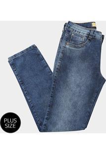 Calça Jeans Biotipo Alice Cigarrete Plus Size Feminina - Feminino-Azul