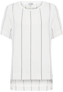 Camiseta Feminina Fernanda Eyelets - Branco