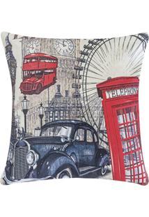 Capa + Almofada Decorativa Fantasy 48Cm X 48Cm Londres