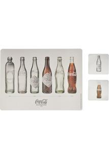 Jogo Americano E Porta Copos Coca-Cola Bottle Evolution