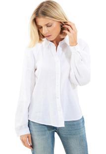 Camisa Le Lis Blanc Bruna Linho Branco Feminina (Branco, 44)