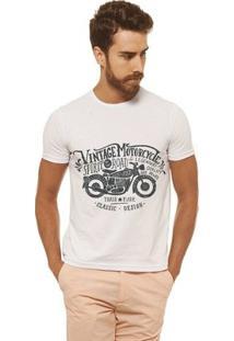 Camiseta Joss - Vintage Motorcycle - Masculina - Masculino-Branco