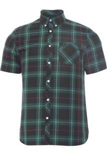 Camisa Masculina Xadrez - Verde