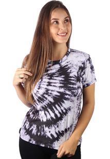 Camiseta Baby Look Espiral Flash Tie Dye Md04