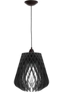 Luminária De Teto Dali Lâmpada Led 40 Watts - Preto/Preto - Multistock