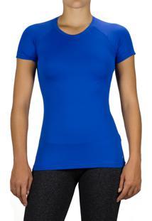 Blusa Praxis Basic Dry Comfort Com Proteção Uv50 Azul Bic