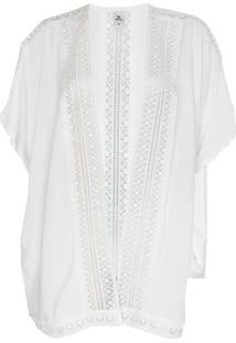 Kimono Hering Recortes Guipir Off-White