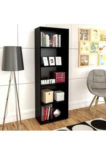 Estante Para Livros Multy Preto - Artely