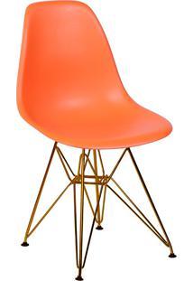 Cadeira Com Base Em Cobre 1102-Or Design - Laranja