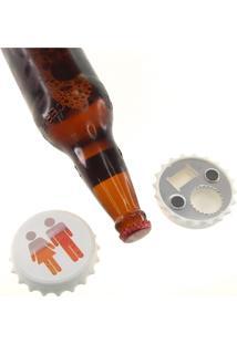 Abridor De Garrafas Personalizado Tampinha Cerveja Casal