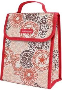 Bolsa Térmica Jacki Design De Poliéster + Folha De Alumínio - Feminino-Salmão