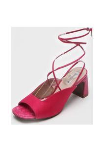 Sandália Bebecê Amarração Pink