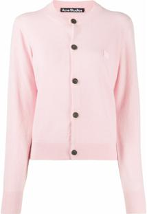 Acne Studios Knitted Round-Neck Cardigan - Rosa