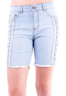 Bermuda Gup'S Jeans Tachas Jeans