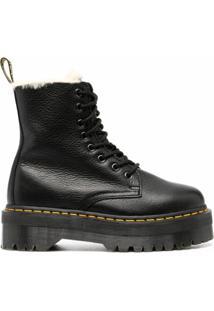 Dr. Martens Ankle Boot Texturizada - Preto