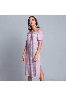 Vestido Tecido Crepe Siena Midi Rendas - Lez A Lez